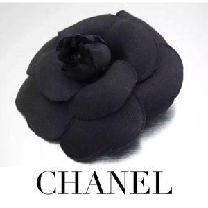 Auth CHANEL Camellia Flower Corsage Brooch  w/Box
